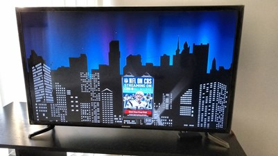 samsung led smart tv with tv table for sale