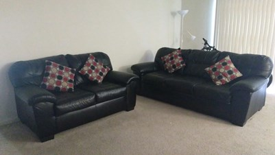 3 Seater And 2 Seater Sofa Set + Dining Table With 6 Chairs From Bobs On  Sale Contact 4845067511