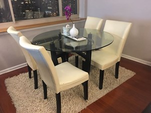 Sale: 3 Seat Sofa, 2 Seat Black Loveseat Sofa, BO Concepts Sofa Bed And  Round Dining Table (4 Chair. 5 Hrs Ago; Jersey City ...