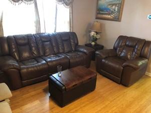 Attirant Leather Recliner Sofa 3+1