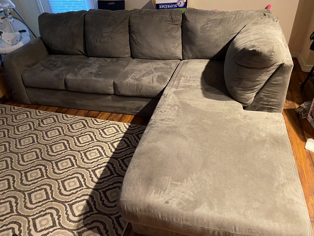 2 Piece Sectional Sofa With Right Arm Facing Armless Chaise
