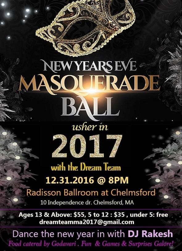 New Years Eve Masquerade Ball 2017 In Radisson Ballroom