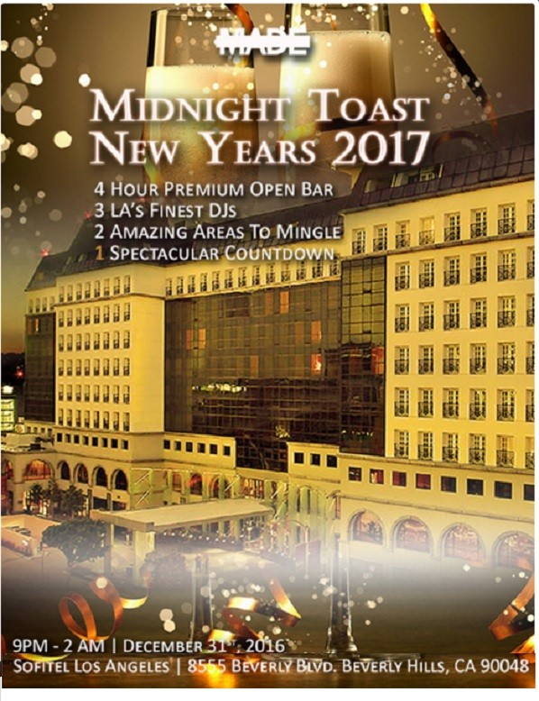 Midnight Toast New Years Eve 2017 | EventMozo | Dec 31