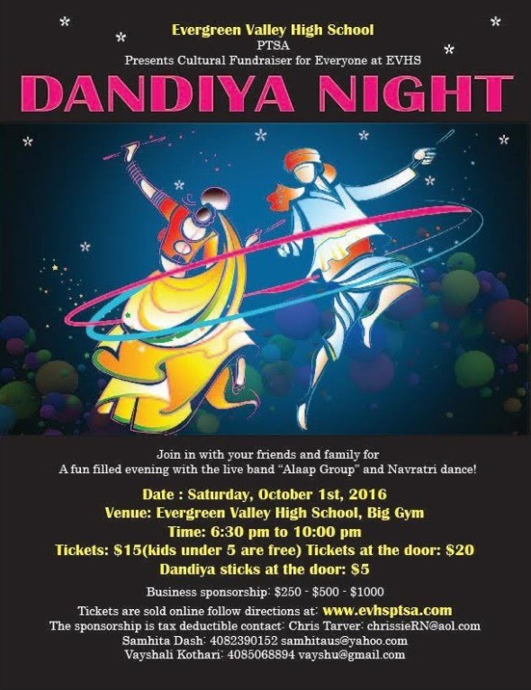 Dandiya Night 2016 by PTSA in Evergreen Valley High School