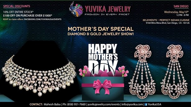 San diego mother 39 s day special jewelry exhibition in for 8 elements perfect indian cuisine