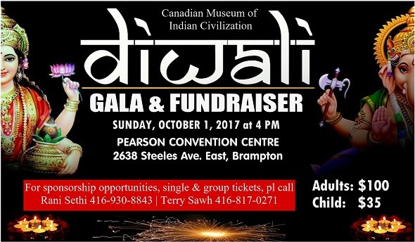 Diwali Gala Amp Fundraiser 2017 In Pearson Convention Centre Brampton On Indian Event