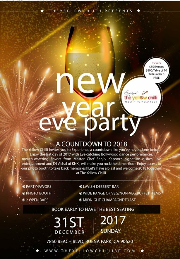 The Yellow Chilli - New Year Eve Party - SOLD OUT at The Yellow ...