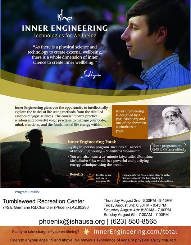 Inner Engineering by Isha Yoga in Phoenix
