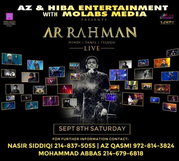 ar rahman concert dallas