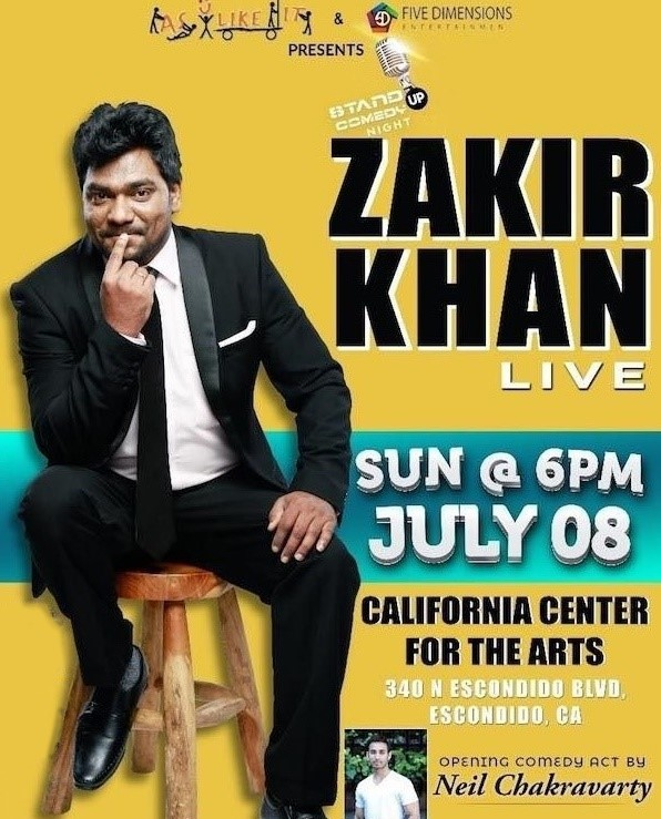 Zakir Khan Stand Up Comedy Live 2018 In San Diego In California