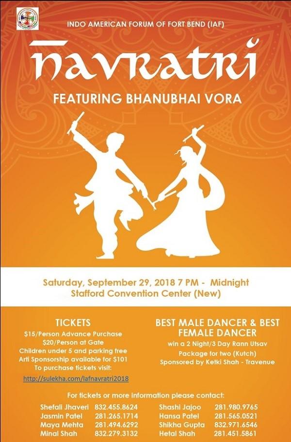Houston Navratri 2018 Events Garba Amp Dandiya Events In