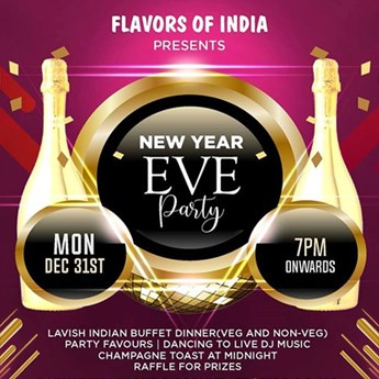 new year eve party at flavors of india