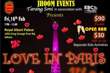 LOVE IN PARIS   Valentines Day Party In Edison, NJ
