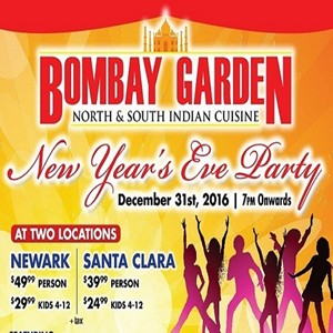 New Years Eve Party 2017 Santa Clara In Bombay Garden