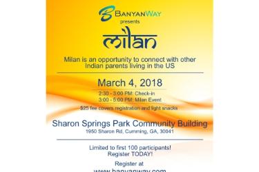 """""""Milan"""" - an meetup for Indian Parents  in Cumming, GA"""