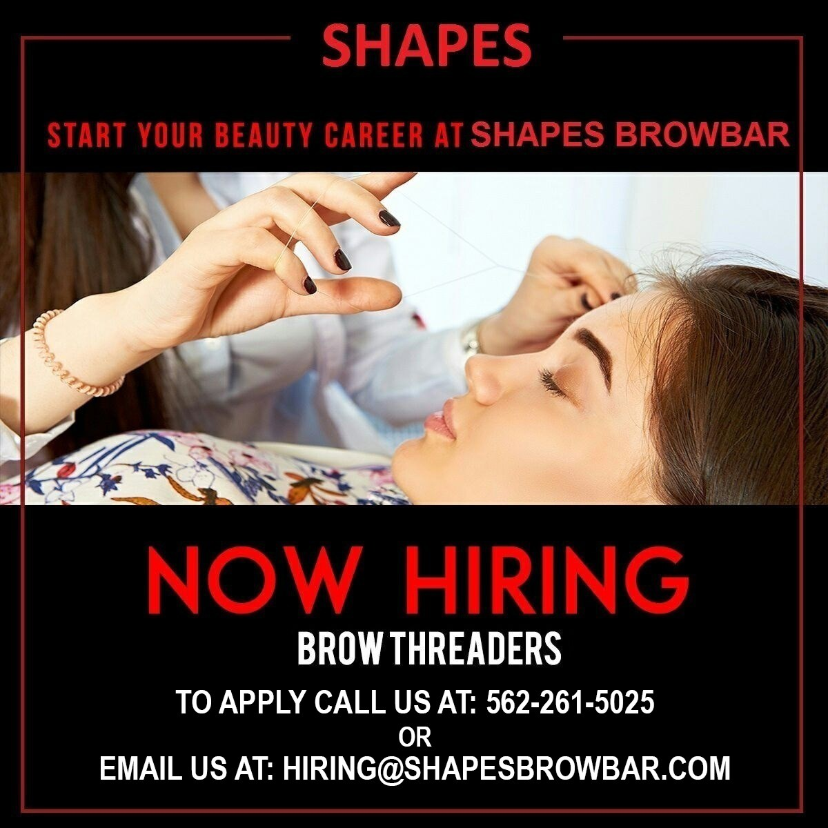 Eyebrow Threading Specialist Job In Chandler Az By Shapes Brow Bar