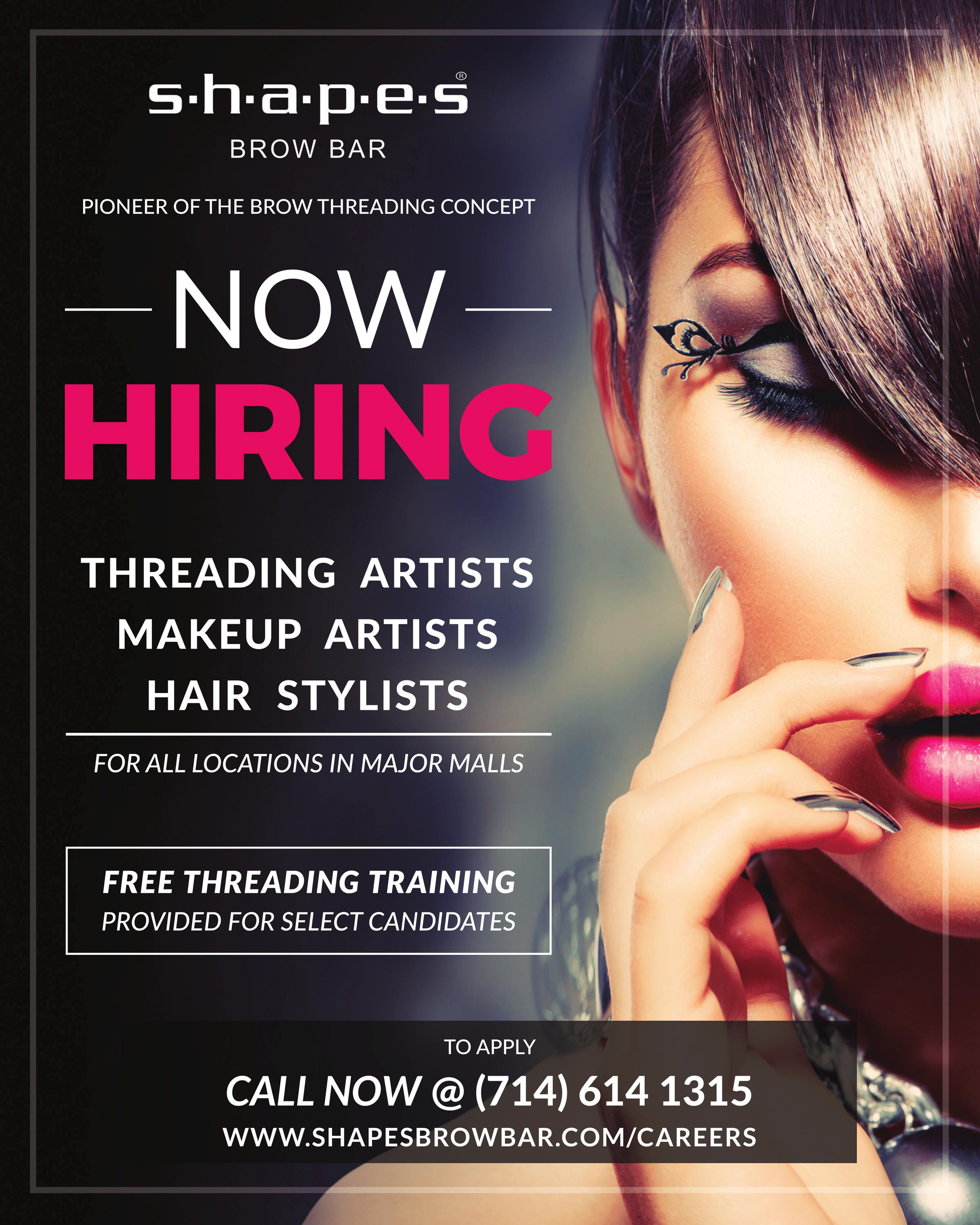 Eyebrow Threading Specialist Job in Morrow, GA by Shapes