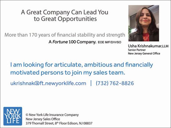 Financial Advisor Job In Edison Nj By Usha Newyorklife Insurance