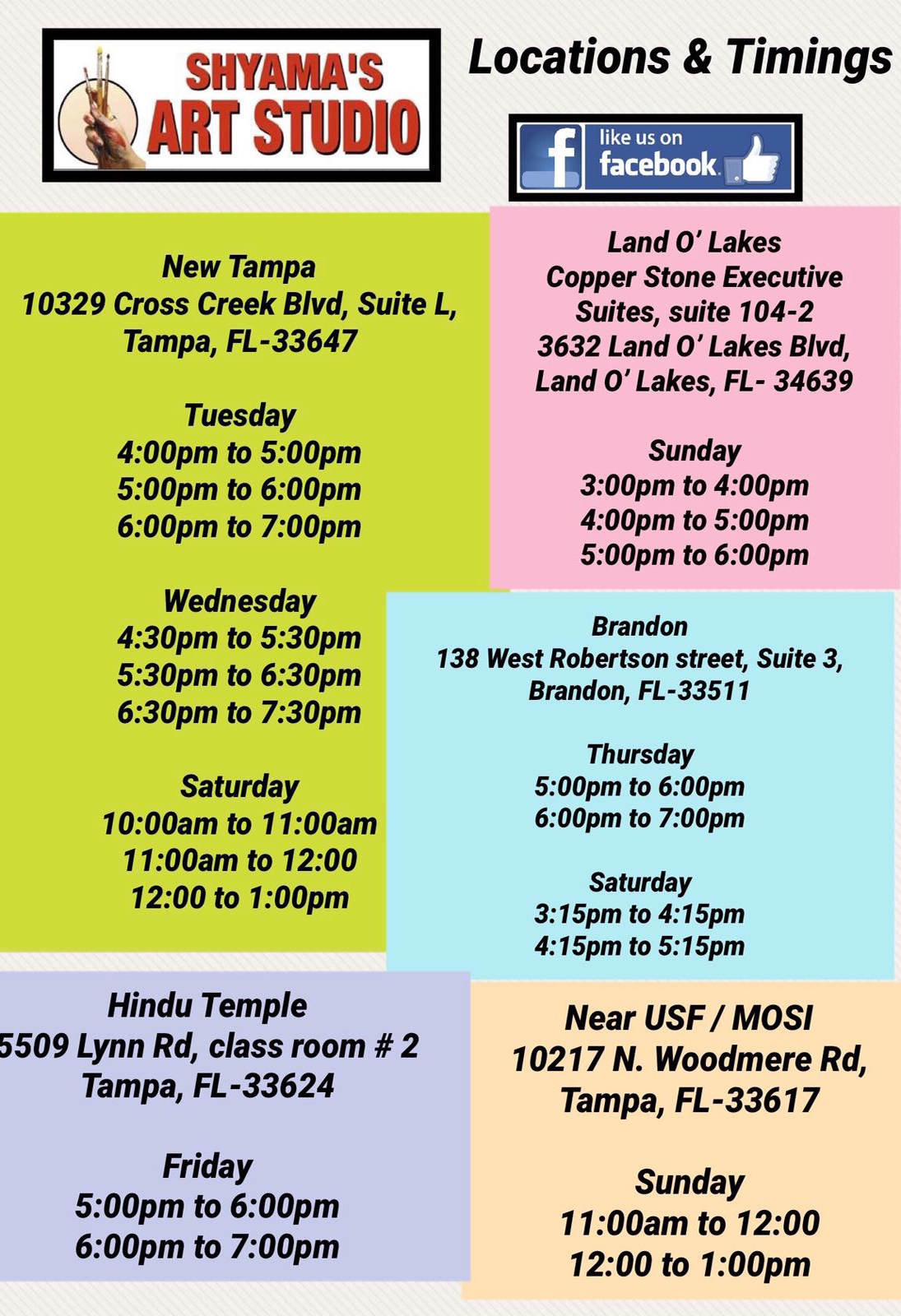 Shyama\'s Art & Painting Classes - Painting Class in Tampa, FL - Sulekha
