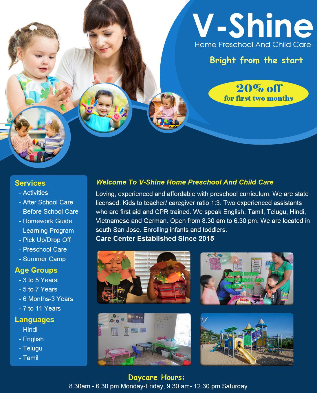 V-Shine Preschool And Child Care - Day Care Center in San