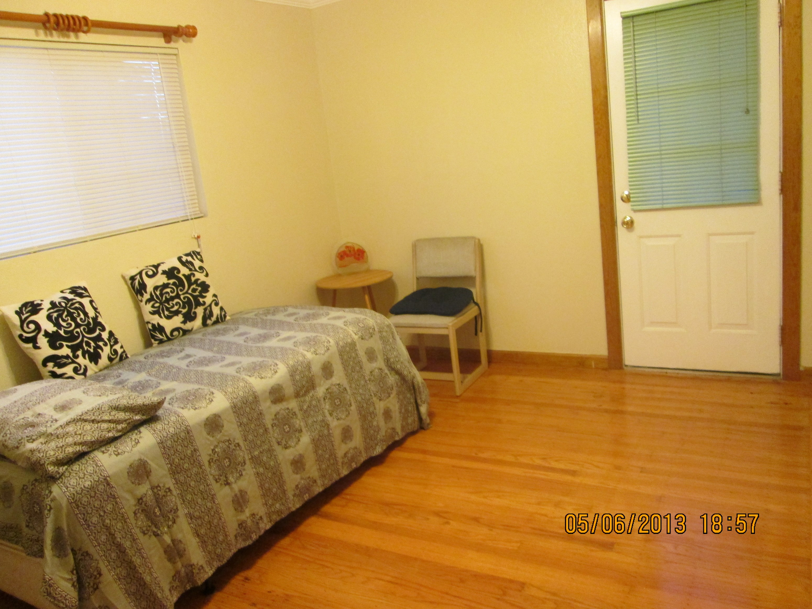 Semi furnished master bedroom attached full bath for Master bedroom with attached nursery