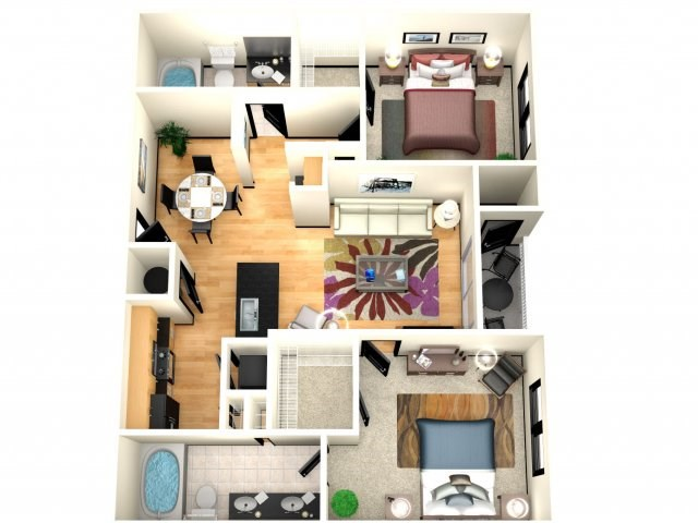 7 month lease at luxury apartment room with attached bathroom in