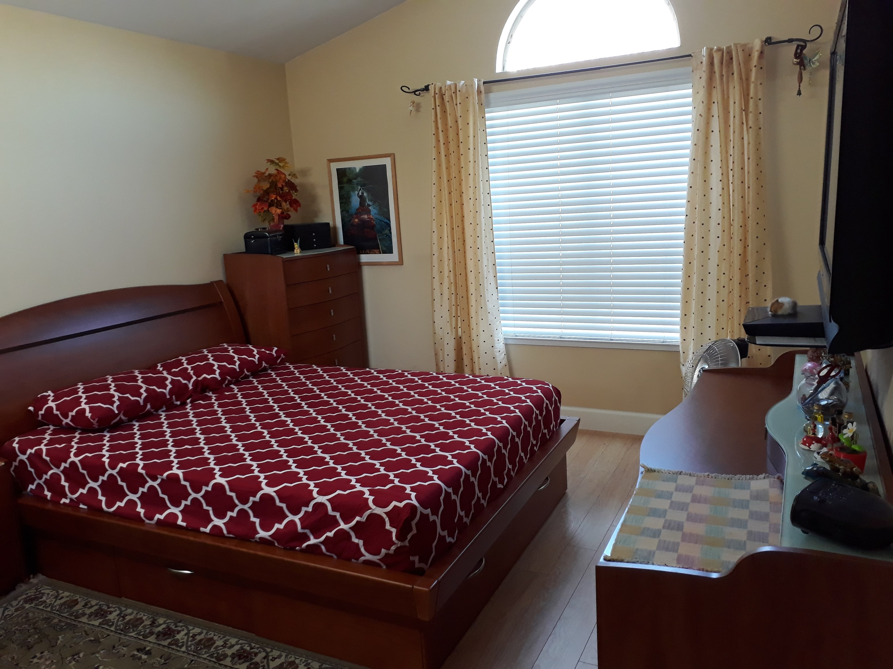fully furnished master bedroom in a 3b3b house utilities included