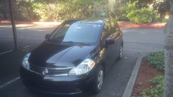 2012 Nissan Versa Hatchback Black Car For Sale 7000 Bellevue