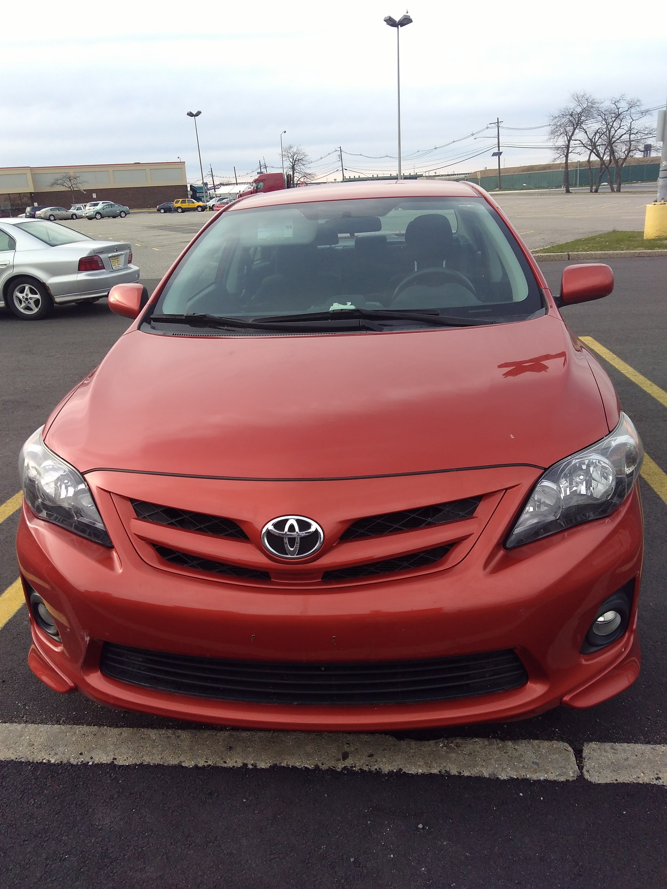 2013 Toyota Corolla S Special Edition Orange Color Miles Used