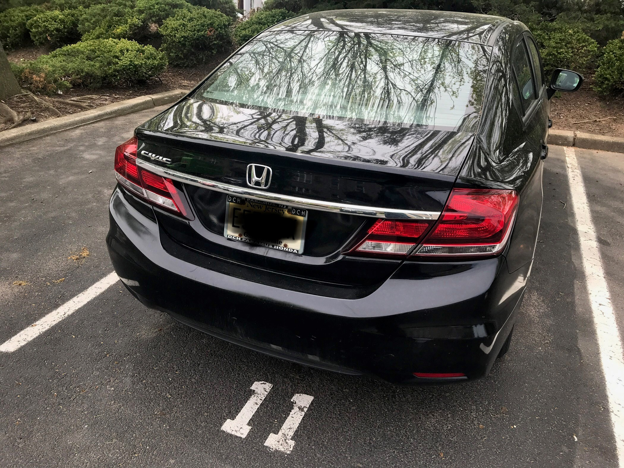 Charming 2014 Black Honda Civic With Extended Warranty   Bumper To Bumper