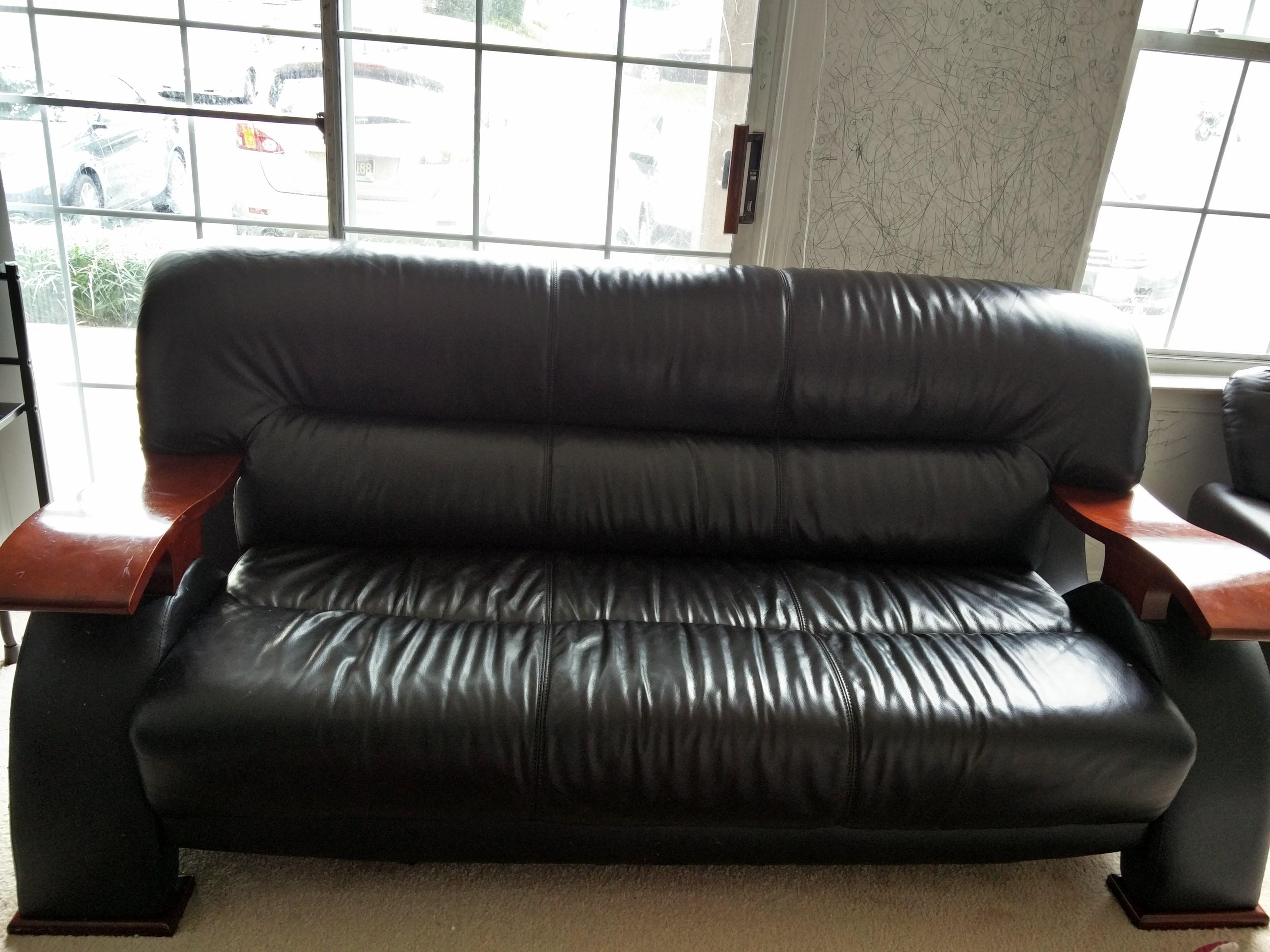 3+2 Leather Sofa Set For Sale